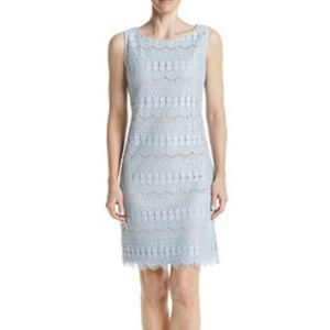 Jessica Howard 10 Light blue lace Overlay dress
